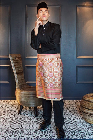 Songket Samping in Bronze