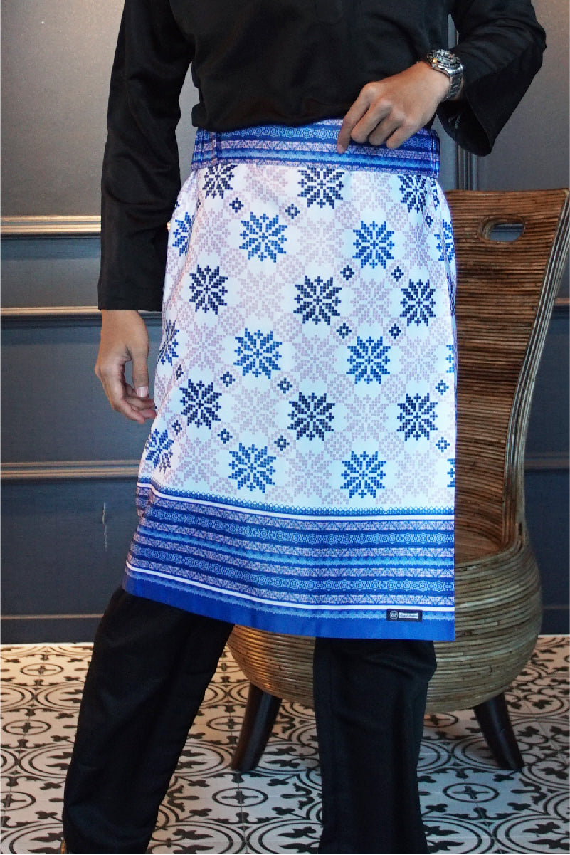 Songket Samping in Blue