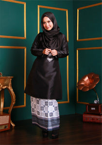Songket Skirt in Black & White