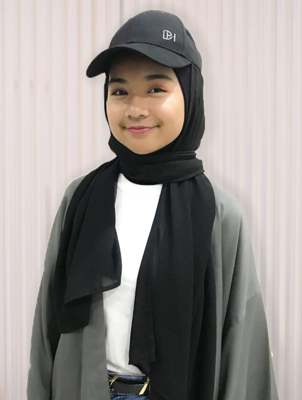 Hijabcap Chiffon in Black