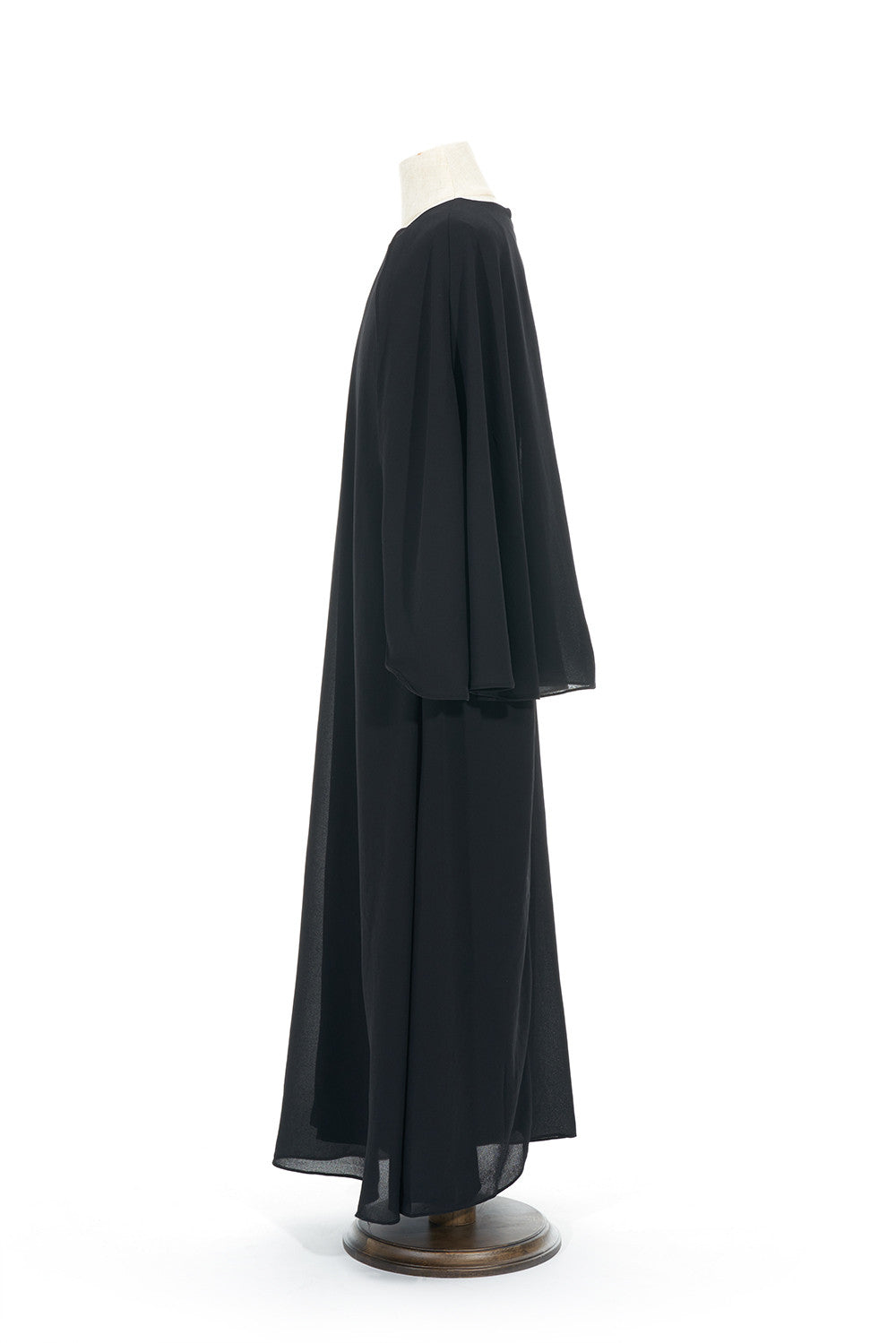 Petite Chiffon Dress With Cape in Black