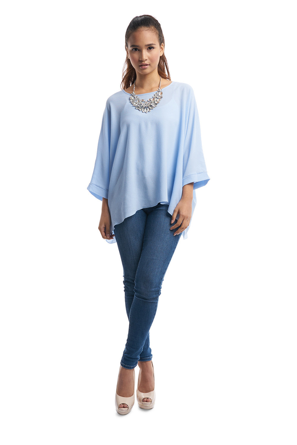 Batwing Top (Light Blue)