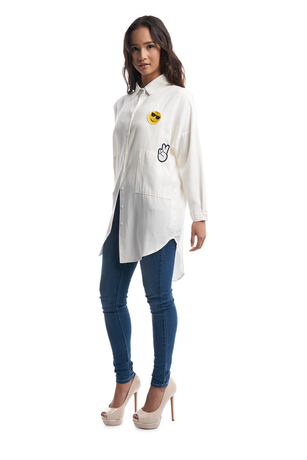 Oversized Boyfriend Shirt (White)