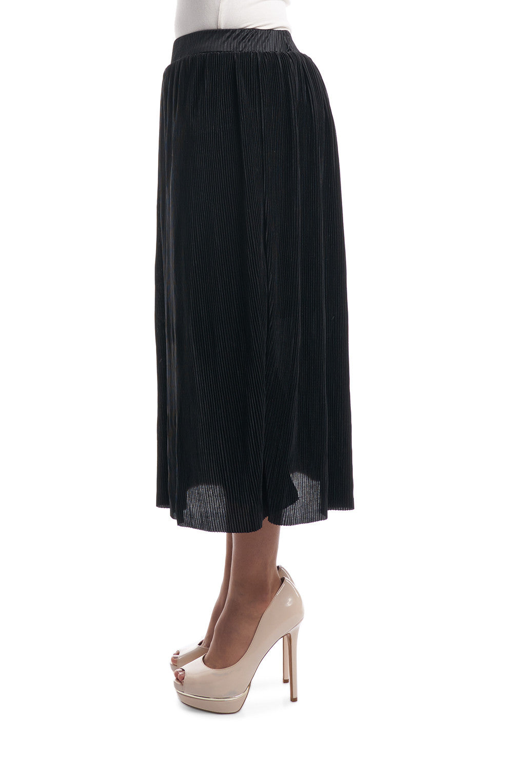 Pleated Skirt (Black)