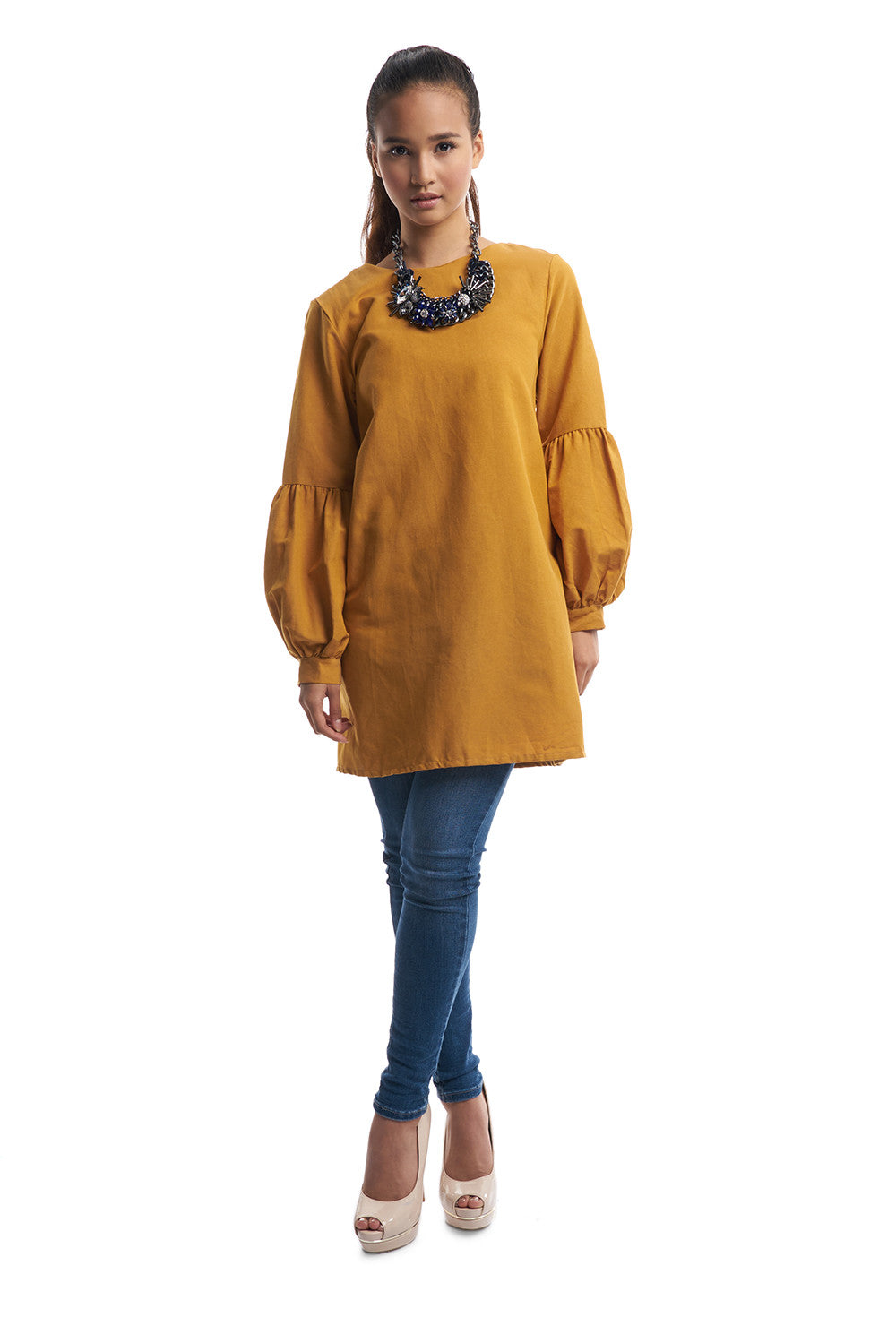 Long Babydoll Top (Mustard)