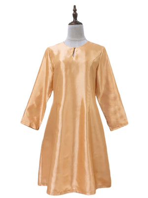 Kurung Pahang Top in Gold