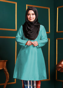 Kurung Pahang Top in Mint Green