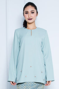 Kurung Top in Mint Green