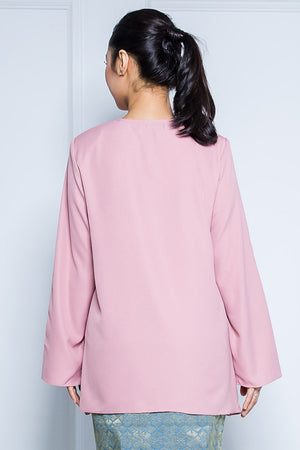 Kurung Top in Dusty Pink