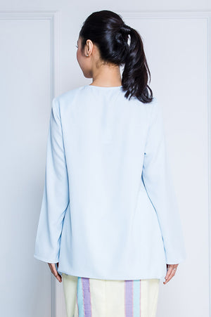 Kurung Top in Baby Blue