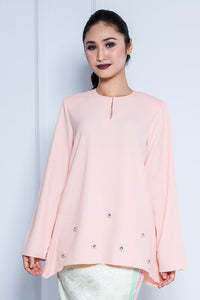 Kurung Top in Peach