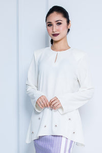 Kurung Top in White