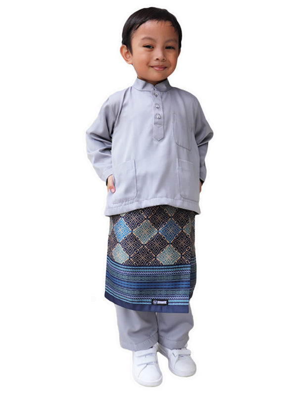 Traditional Boys Samping in Blue