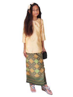 Petite Traditional Skirt in Olive