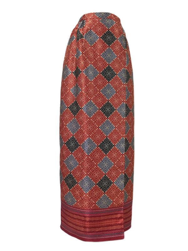 Traditional Skirt in Deep Red