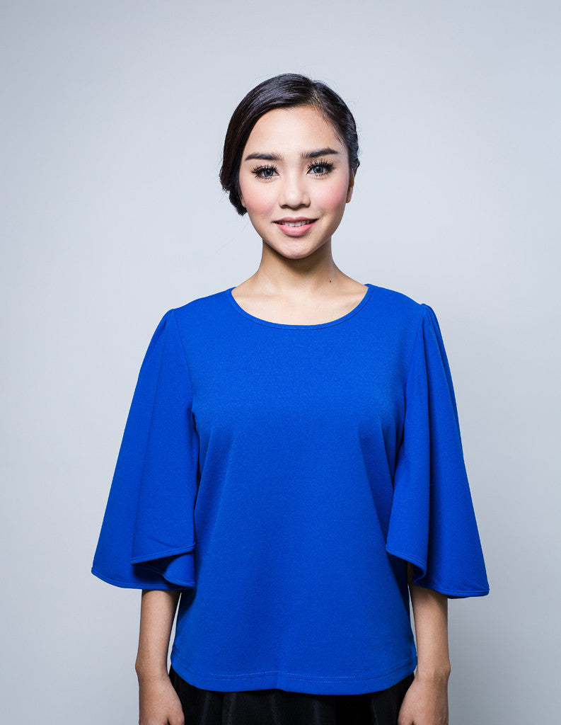 Batwing Top in Blue