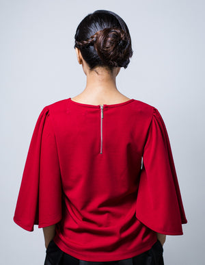 Batwing Top in Red