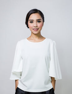 Batwing Top in White