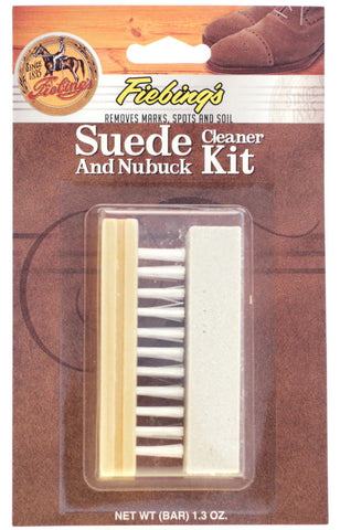 Fiebings Suede And Nubuck Cleaner Kit Bar And Brush