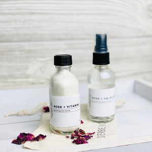 Rose Misting Toner and Rice Scrub Duo