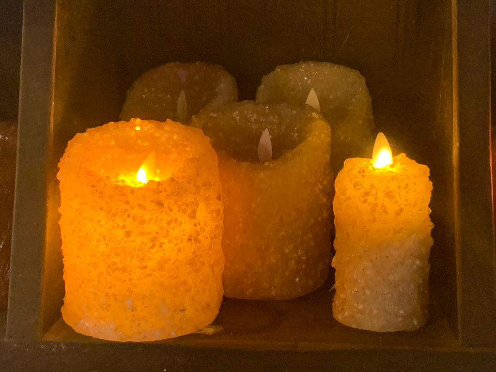 outdoor battery operated candles with remote