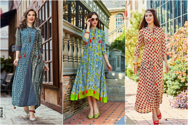 6e43daaa42 Cotton and Rayon Selfie Kurtis Summer Collection from Silver Moon Women's  Ethnic Wear, Bangalore,