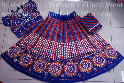 8ac8e612e66dd Blue and Red Stylish Chaniya Choli for Girls   Size 30   Age: 7 to 8 Years    Buy Now!   Get Free Shipping with all India COD