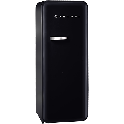 ARET330B - Retro Style Fridge in Black/Anthracite