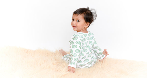 Organic Cotton Bodysuit - Royal Paisley Print