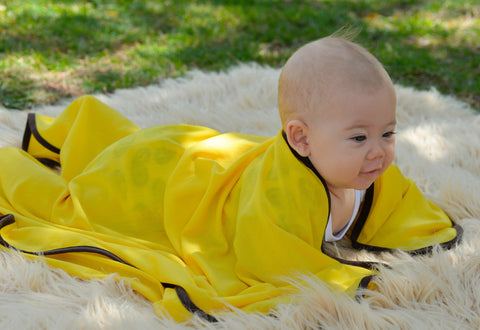 Pure Merino Wool Baby Wrap - Lemon