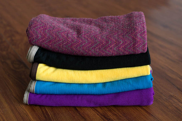 Pure Merino Wool Baby Wrap - Blackberry