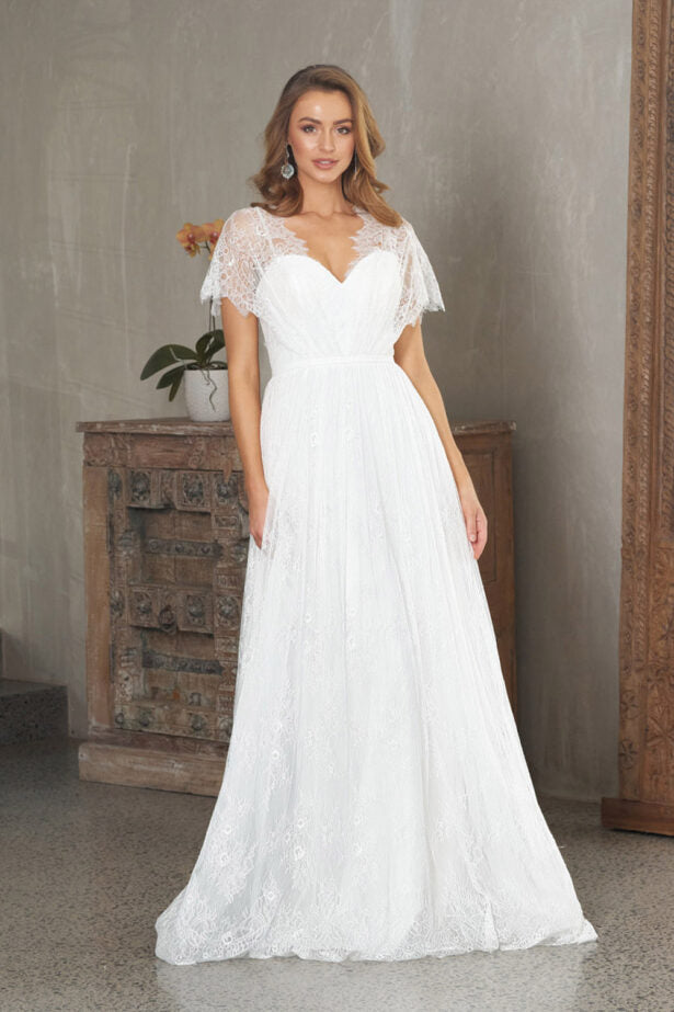 "White Wedding Gown/Debutante ""Melody"" Gown TC 325"