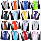 Mens Neck Tie Plain Solid Colours Formal Prom