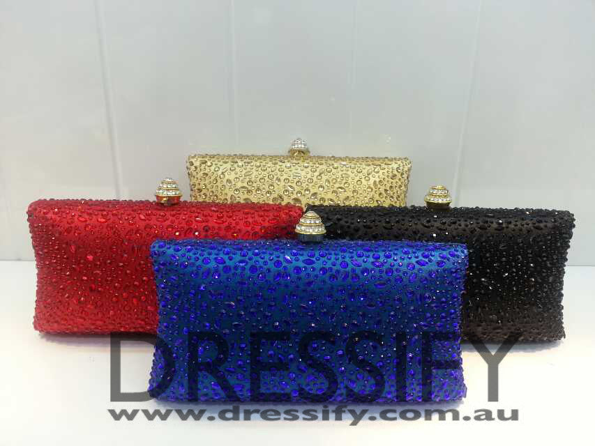 Jewel Cut Diamonte Clutch Bag