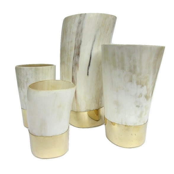 Horn and Brass Vases