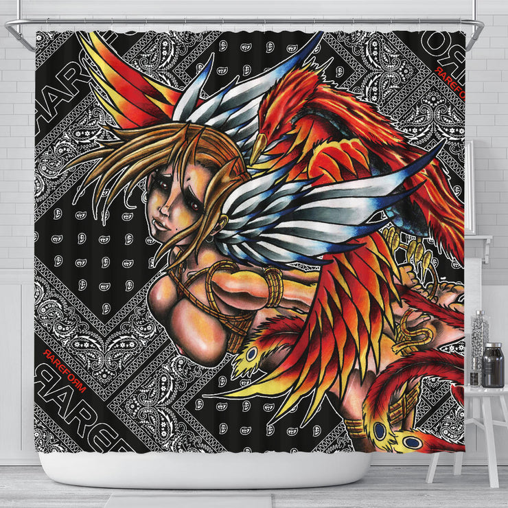 Phenix Girl shower curtain