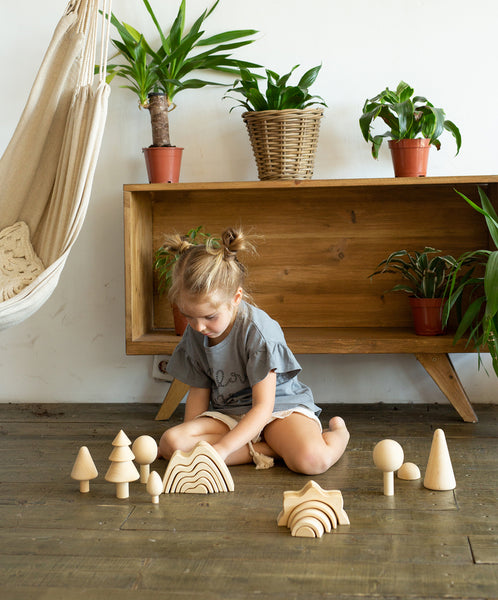 stackers and woodentoys at play