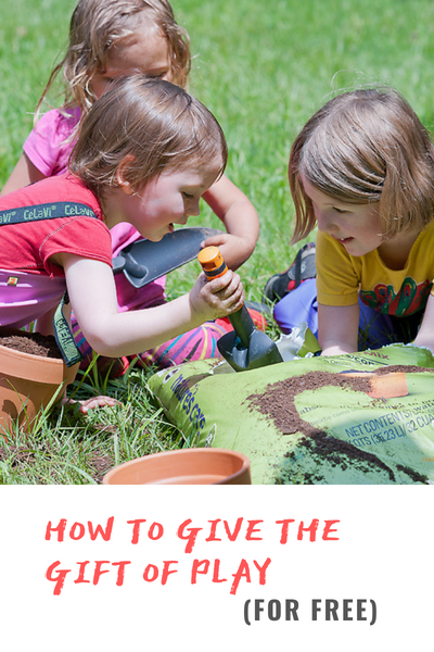 how to give the gift of play for free - biddleandbop blog