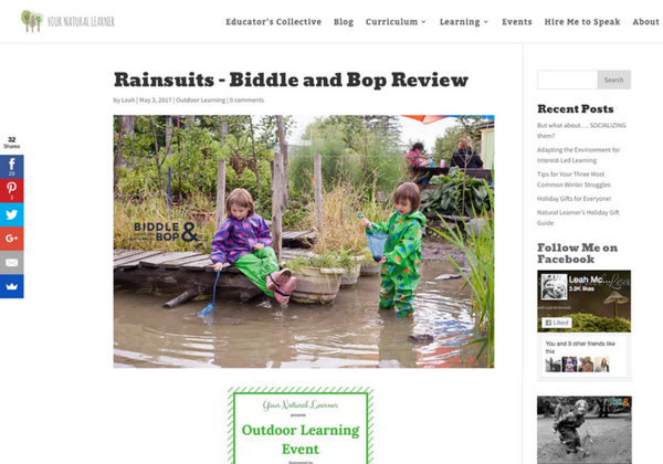 Screenshot of BiddleandBop.com review on YourNaturalLearner blog