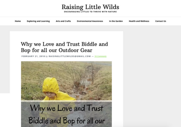 Raising Little Wilds Review of Biddle and Bop www.biddleandbop.com