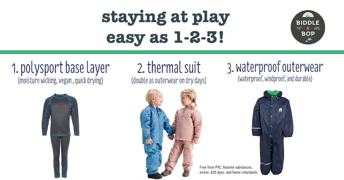 layering for all weather play visual guide