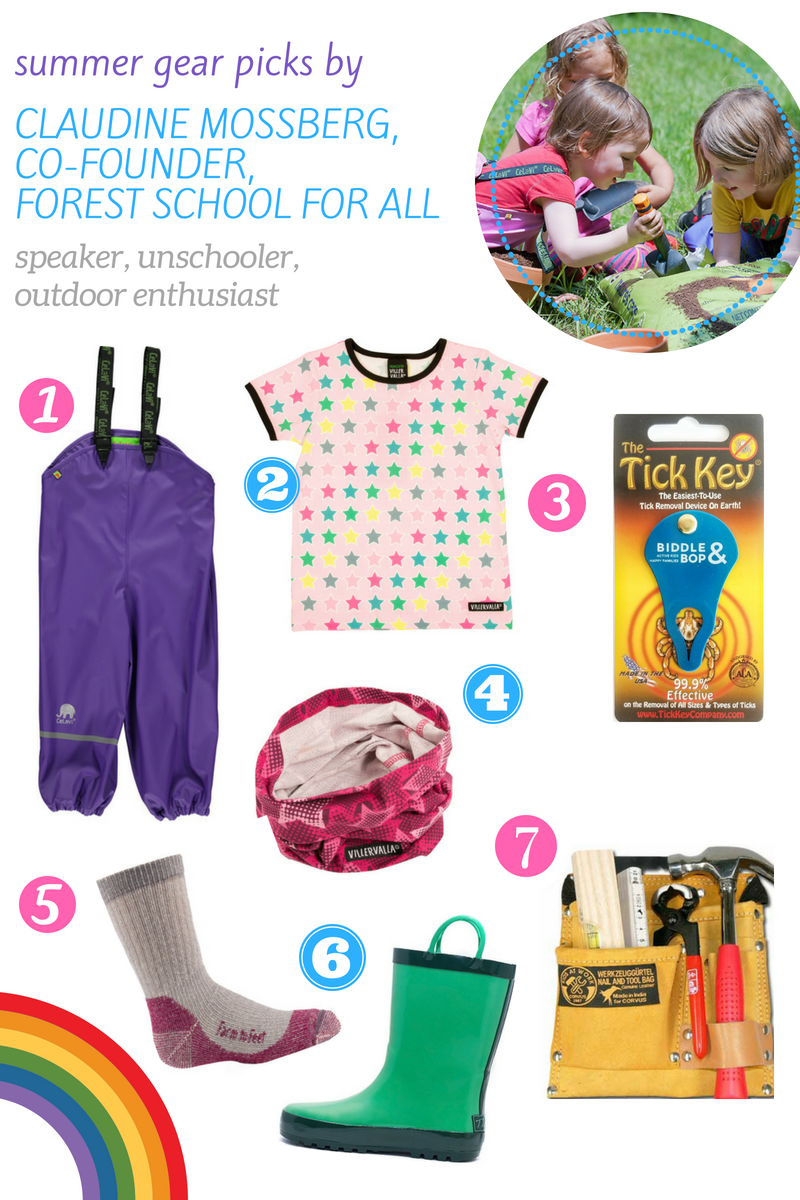 summer gear picks for tick prevention protection forest play by Claudine Mossberg of Forest School for All