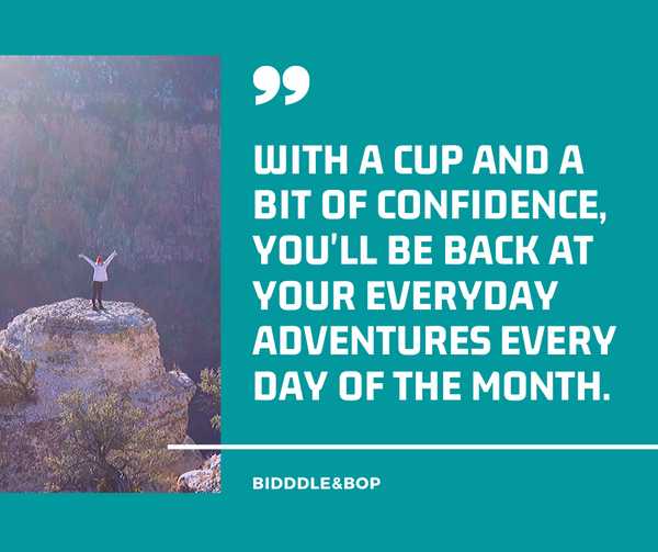 quotes about women hiking menstrual cups