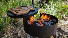 Fire Pit with Swinging Hot Plate & Grill