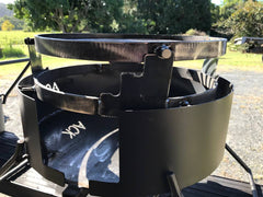 Fire Pit Folding with Drop in Grill, Hot Plate & Hook