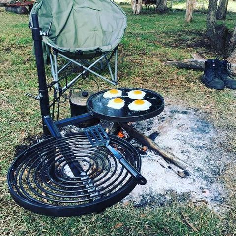 BBQ Swinging Hot Plate and Grill with Camp Oven Hook