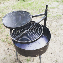 Fire Pit Base & Legs for use with BBQ plates (no post)