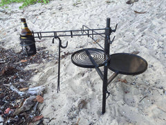 SWINGING HOT PLATE & GRILL with UTENSIL RACK