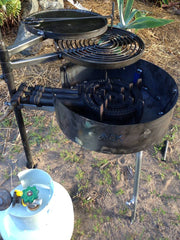 AUSSIE FIRE PIT with SWINGING HOT PLATE & GRILL