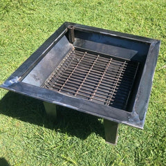 Backyard Fire Pit, Swinging Plate & Grill comes with Pit Stabiliser